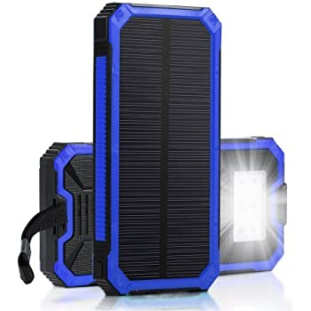 Amazon Com Solar Battery Charger Hallomall 15000mah