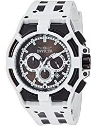 Invicta Mens Akula Quartz Stainless Steel and Silicone Casual Watch, Color:Two Tone (Model: 22374)