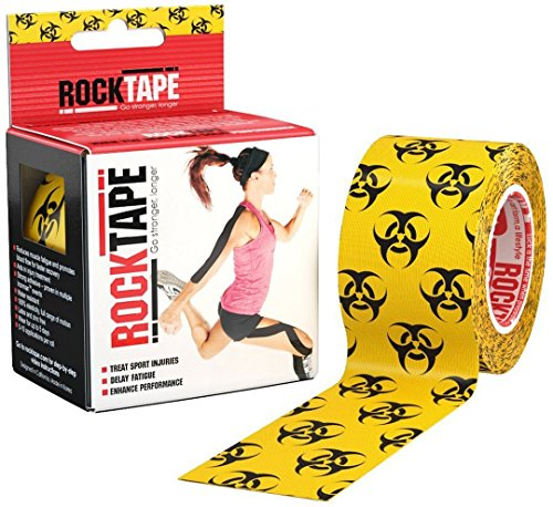 RockTape Kinesiology Tape for Athletes - 2 Inch x 16.4 Feet - Giggles Medium Fabric
