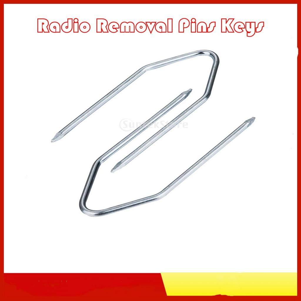 Per Ford Blaupunkt Mazda Car Maker 2 Pezzi Stereo Radio Removal Keys Tool