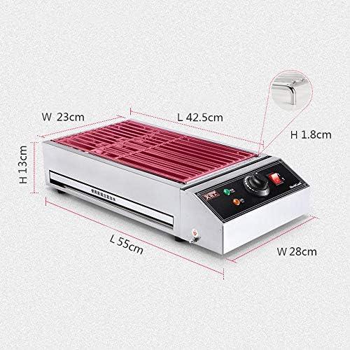 CDFCB Barbecue électrique antiadhésif Grand Barbecue de Table Support de Gril électrique Portable intérieur, Nettoyage Facile, température réglable (2500 w)