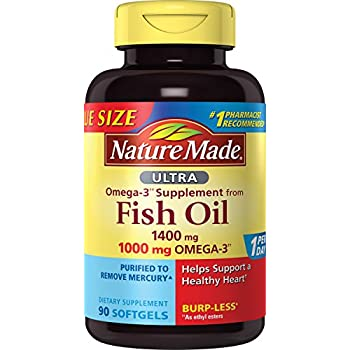 Nature made 1200mg of fish oil 2400 per for Fish oil 1400 mg