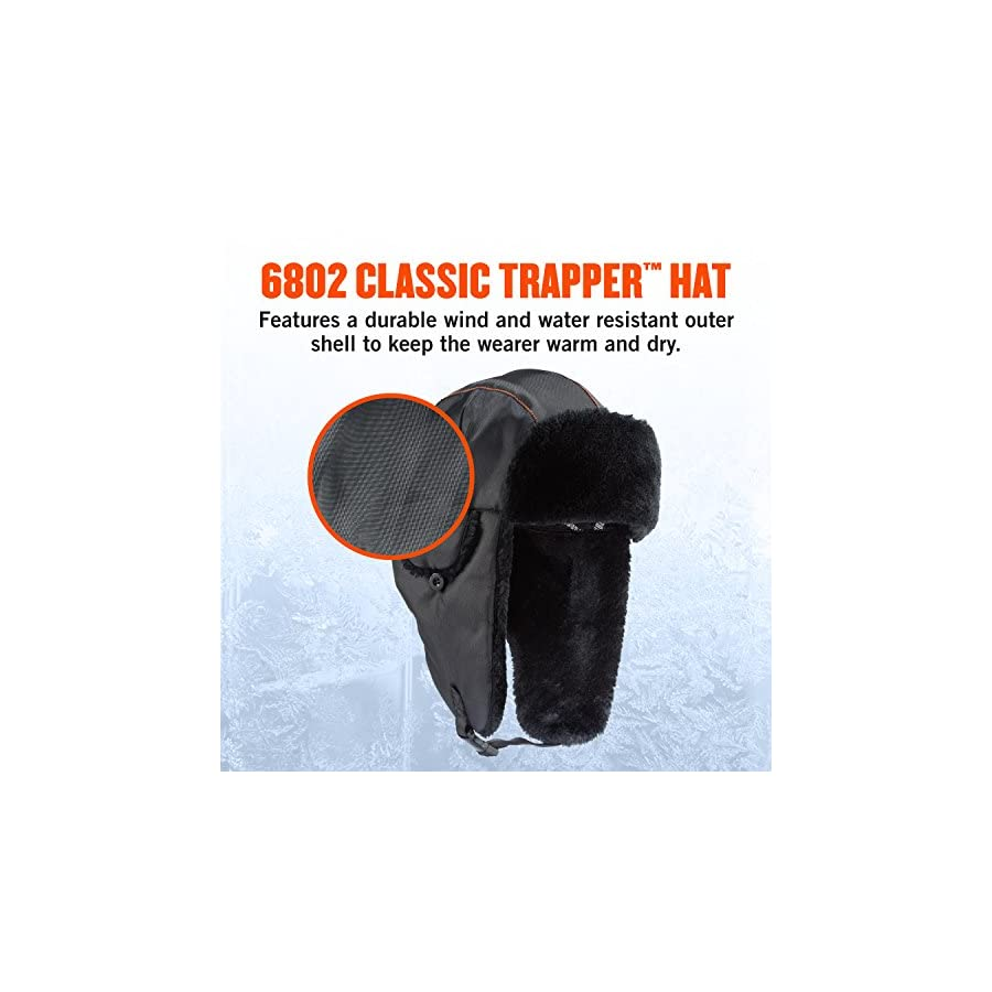 Ergodyne N Ferno Classic Black Trapper Hat