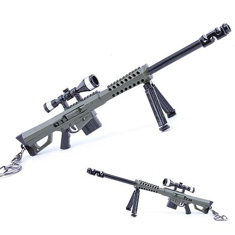 Amazon.com: Modelo de pistola llavero regalo M82A1 Sniper ...