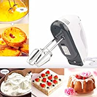 Saiyam Hand Mixer - 7 Speed Egg Beater with Chrome Beater + Dough Hook (White, 180W)