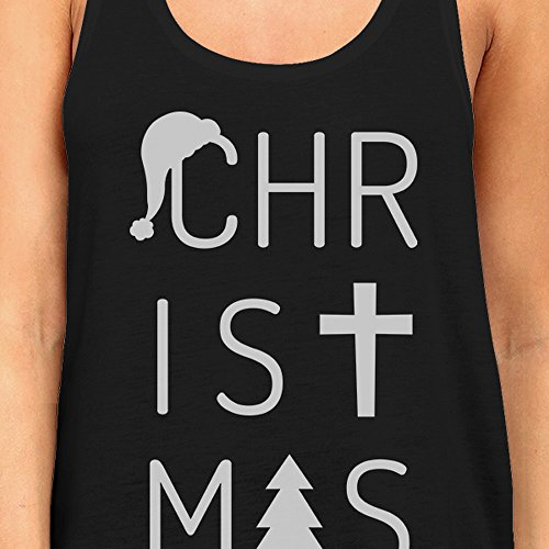365 Christmas Pull Sans Manche Letters Unique Printing Taille Femme RORrnw4qx