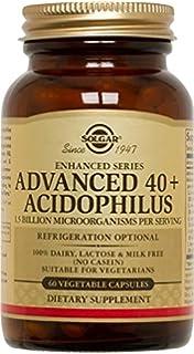 Solgar 40+ Acidophilus Avanzado Cápsulas vegetales - Envase de 60