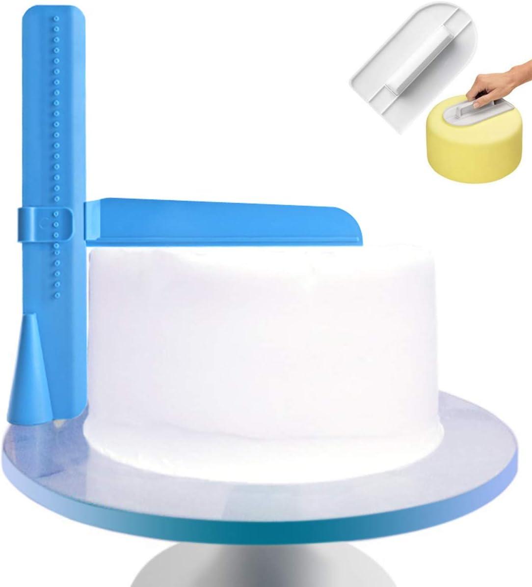 Zeen color crema Rascador de tartas ajustable para decoraci/ón de tartas