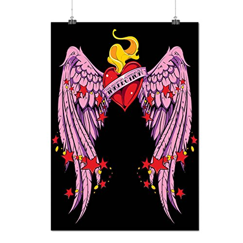 [Love Infection Tattoo Ink Heart Matte/Glossy Poster A4 (9x12 inches)   Wellcoda] (Bride And Groom Halloween Costumes Uk)
