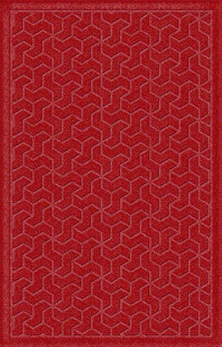 American Floor Mats Windmill Designer Floor Mat - Red 2' x 3' with Gripper Backing, Matching Fabric ()