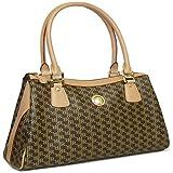 Aristo Brown Large Dual Handle Bag by Rioni Designer Handbags & Luggage