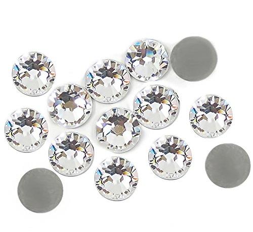 Strass di cristallo, 4 mm, trasparenti, adesivi (non termoadesivi), 1000 pezzi BlueBD GmbH