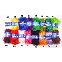 Eyelash yarn, Assorted Colors, Pack of 10