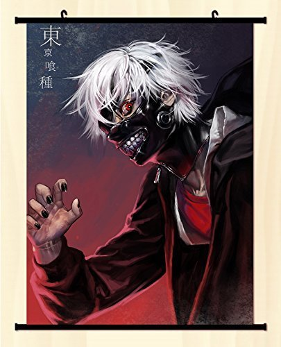 POPULAR Anime Tokyo Ghouls Kaneki Ken Home Decor Poster Wall Scroll Japanse 23.6 X 35.4 Inches -C09 by CoSmile