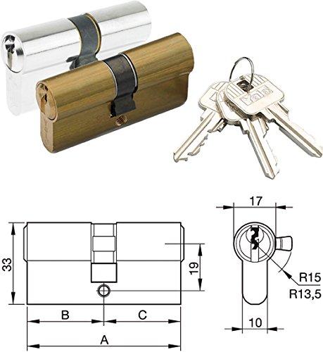 Azbe 3012174 Cilindro Monoblock 30x40/r13, 5 Niquelado