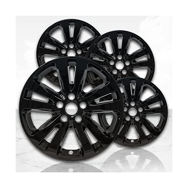 Upgrade-Your-Auto-17-Gloss-Black-Wheel-Skins-Set-of-4-for-2015-2017-Chrysler-200-2511