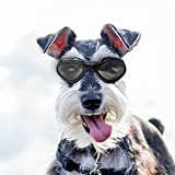 Dog Goggles Sunglasses Waterproof Windproof UV Protection for Small Medium Dogs and Cats Glasses - Vet Recommended Eye Protection(Black)