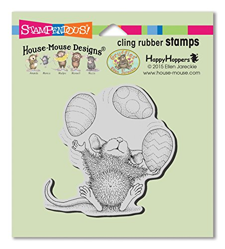 House Mouse Designs Rubber Stamp - STAMPENDOUS House Mouse Cling Rubber Stamp Easter Egg Juggle