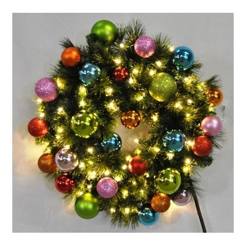 Christmas at Winterland WL-GWSQ-06-TROP-LWW 6 Foot Pre-Lit Warm White Sequoia Wr, Warm White -