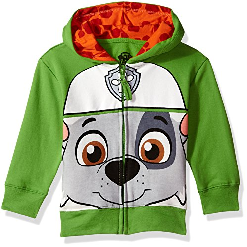 (Nickelodeon Toddler Boys' Paw Patrol Character Big Face Zip-Up Hoodies, Green,)