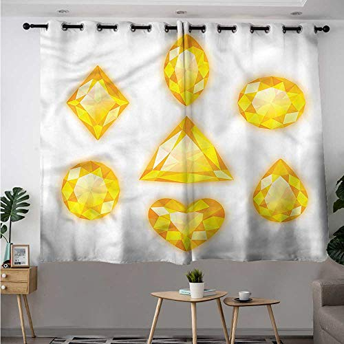 Curtain Lace Marquise - Fbdace Diamonds Grommet Curtains Marquise Hearts and Pear Room Darkening Thermal W 55