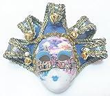 Light Blue Jollini Miniature Ceramic Venetian Mask