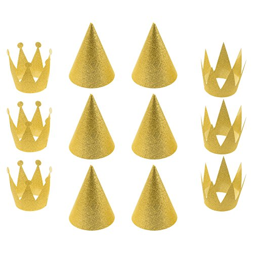 Cosmos 12 PCS Birthday Party Cone Hats Crown Laurel Hats wit