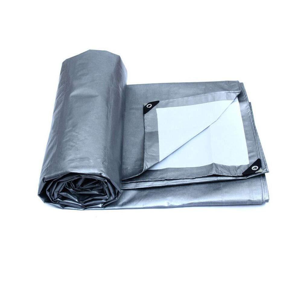 CJC トランスペアレント テント 耐寒性 ターポリン 接地 シート カバー 175g/m² 白 PE (色 : T2, サイズ さいず : 8x6m) 8x6m T2 B07H5L3P9D