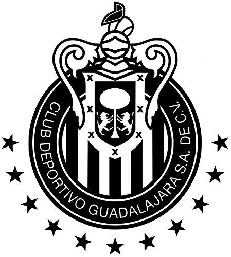 club-chivas-del-guadalajara-decal-calcomania-blanco-9-largo-x-10-de-alto