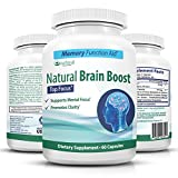 Natural Brain Booster Pills, Super Memory and Focus Supplement with Ginkgo Biloba Extract and St. John's Wort Herbal - Mind & Energy booster by Natural T & P (60 caps/1 mo. supply)...