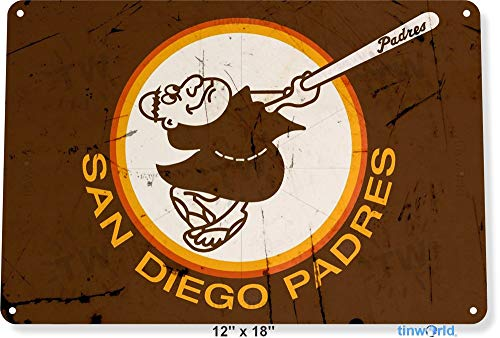 Unoopler TIN Sign San Diego Padres Retro Metal Decor Petco Park Baseball Card Shop Tinworld A916 12