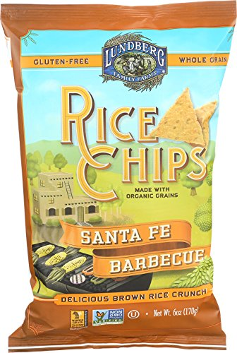 Lundberg Family Farms Rice Chips, Santa Fe Barbecue, 6 (Santa Fe Bbq)