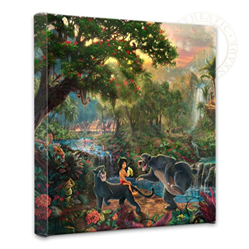 Thomas Kinkade - Gallery Wrapped Canvas , The Jungle Book , 14
