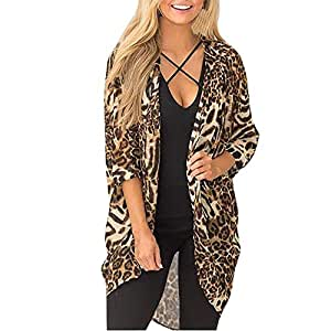11bd3b8bbed6 Amazon.com: Women Blouse, Fashion Leopard Print Long Sleeve Refined ...