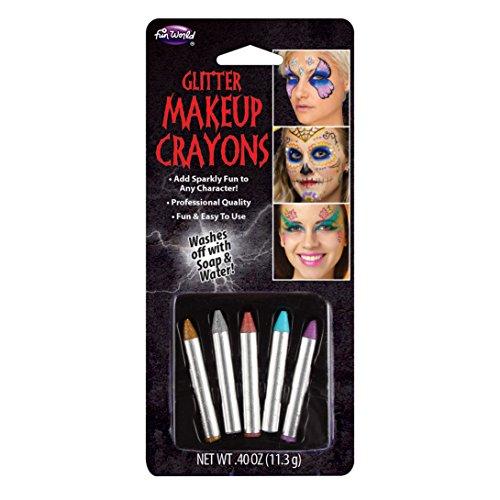 Fun World Women's Glitter Crayons Multicoloured One Size (Clown Halloween Makeup Girl)