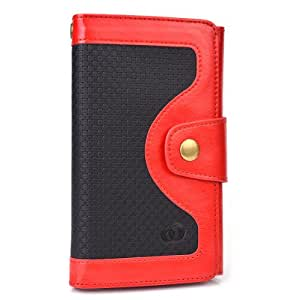 Amazon.com: Red Universal BiFold Wallet with Snap Button ...
