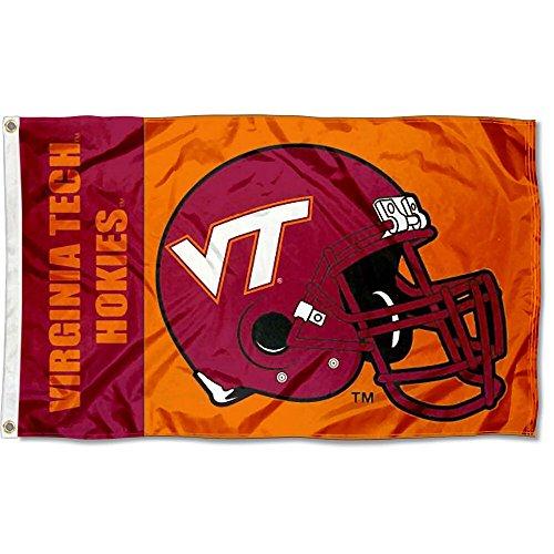VA Tech Hokies Large Football Helmet 3x5 College Flag