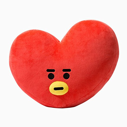E-SCENERY 2018 New Cute Cartoon Doll, BTS BT21 Bangtan Boys Throw Pillow Perfect for Sofa Home Decor, Nice Gift 11.8''15.7'' (V-TATA)