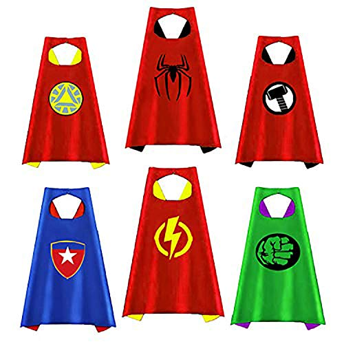 Superhero Capes for Kids, Party Favors for Boys Toddlers Costumes Party Supplies Reversible for Boys Girls Dress up Gifts for 3-12 Year Old Boys Toys for 3-10 Year Old Boys Girls -