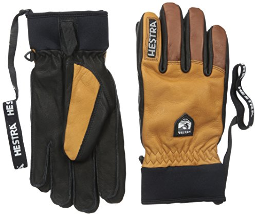 (Hestra Ski Gloves: Army Leather Winter Cold Weather Gloves-Removal Liner, Cork/Brown, 9)