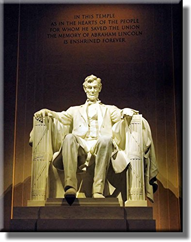 Abraham Lincoln Memorial Picture on Stretched Canvas, Wall Art Décor, Ready to (Lincoln Memorial Photo)
