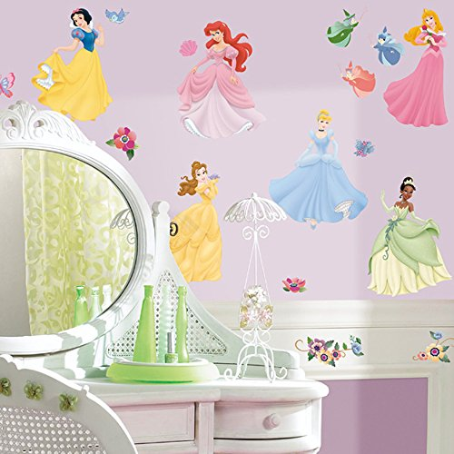 [Roommates Rmk1470Scs Disney Princess Peel & Stick Wall Decals With Gems] (Princess Tiana Disney Costume)