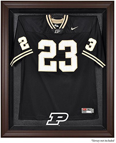 Mounted Memories Purdue Boilermakers Brown Framed Logo Jersey Display Case - Case Display Browns Logo