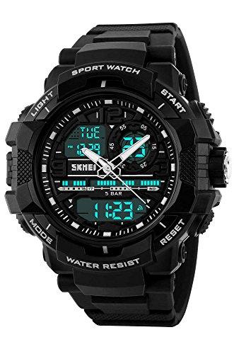 Gosasa Students Sport Watch Men Electronic Digital Analog Watch Waterproof Wristwatches