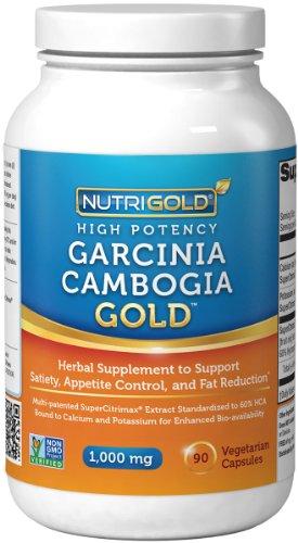 NutriGold гарцинии камбоджийской экстракт GOLD - 1000 мг в одной капсуле - высокая потенция (ТОЛЬКО клинически проверенных 100% Pure гарцинии камбоджийской Благодаря водорастворимых экстракт используется в реальных клинических испытаний) - потеря веса и п