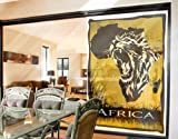 Window Mural In the heart of Africa window sticker window film window tattoo glass sticker window art window décor window decoration Dimensions: 85 x 56.7 inches