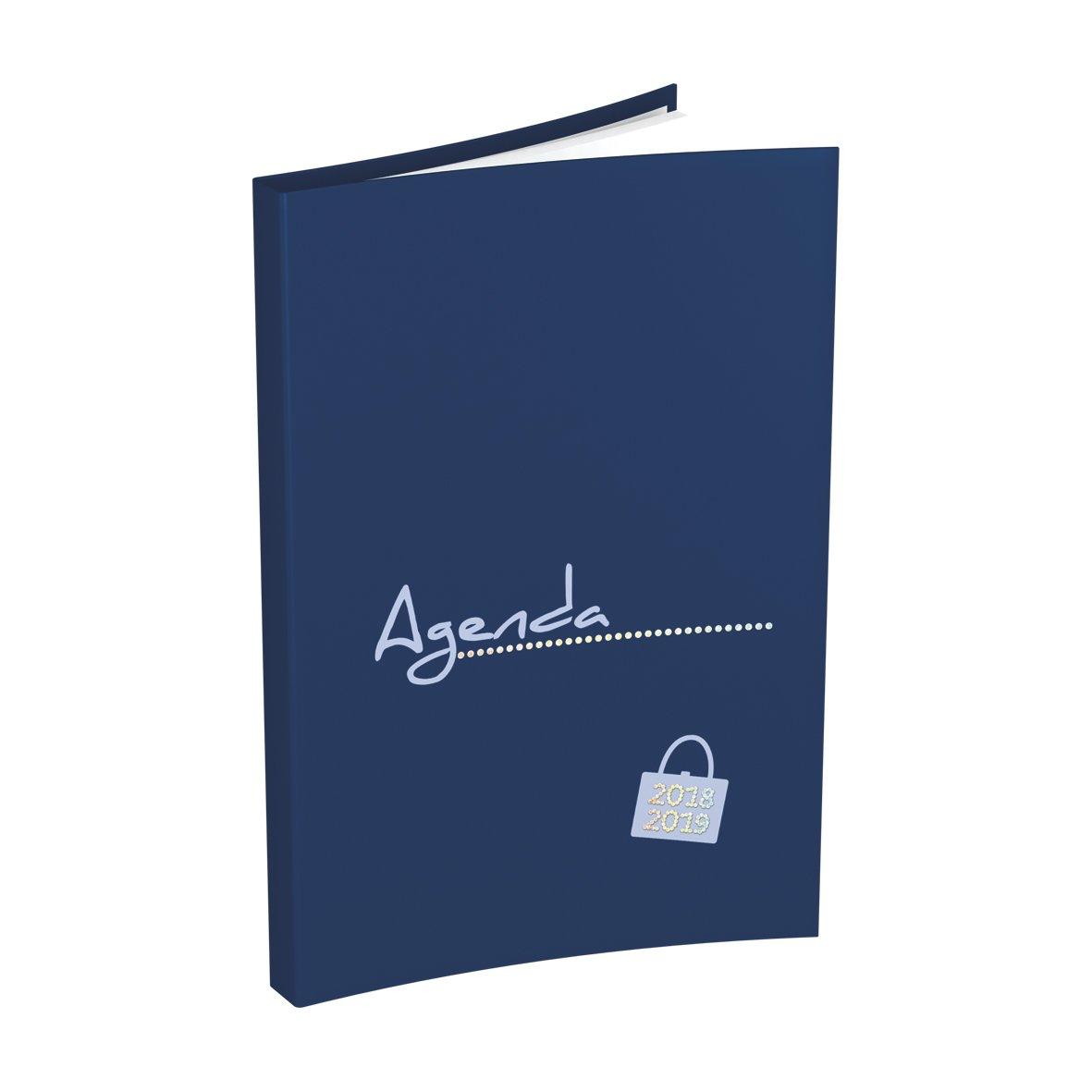 Agenda 2018-19 Lecas Millenium 10x15, 1 Semaine / 2 páginas - Francais, surtido: varios colores 100735202