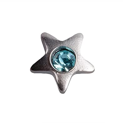 Blue Banana Body Piercing Joya Microdermal Acero Quirúrgico 3mm Estrella (Aguamarina): Amazon.es: Joyería