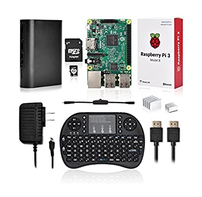 LoveRPi Raspberry Pi 3 Media Center Kit with Backlit Mini Keyboard with TouchPad - 32GB Model