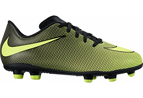 ac6c09f23 Nike Jr. Bravata II (FG) Firm-Ground Soccer Cleat Black Volt Size 4 M US · Soccer  Shoes